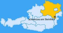 Karte von Schwarzau am Steinfeld