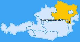 Karte von Wartmannstetten