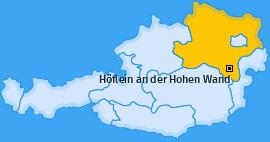 Karte von Höflein an der Hohen Wand