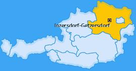 Karte von Inzersdorf-Getzersdorf