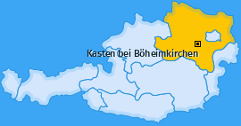 Karte von Kasten bei Böheimkirchen