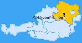 Karte von Markersdorf-Haindorf