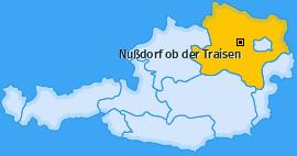 Karte von Nußdorf ob der Traisen