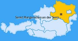 Karte von Sankt Margarethen an der Sierning