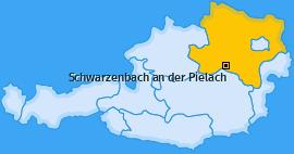 Karte von Schwarzenbach an der Pielach