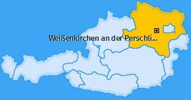 Karte von Weißenkirchen an der Perschling