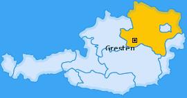 Karte von Gresten