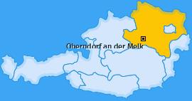 Karte von Oberndorf an der Melk