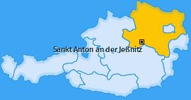 Karte von Sankt Anton an der Jeßnitz