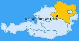 Karte von Steinakirchen am Forst