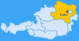 Bezirk Tulln Landkarte