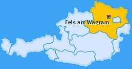 Karte von Fels am Wagram