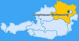 Karte von Zeiselmauer-Wolfpassing