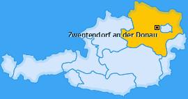 Karte von Zwentendorf an der Donau