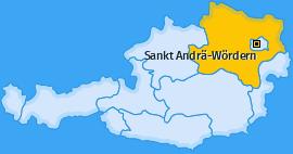 Karte von Sankt Andrä-Wördern