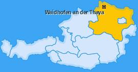 Bezirk Waidhofen an der Thaya Landkarte