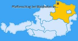 Karte von Pfaffenschlag bei Waidhofen an der Thaya