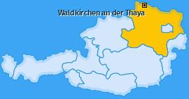 Karte von Waldkirchen an der Thaya