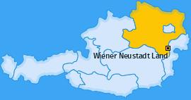 Bezirk Wiener Neustadt Land Landkarte