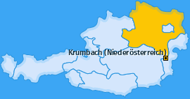 Karte von Krumbach (Niederösterreich)