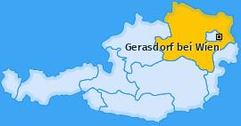 Karte Gerasdorf Gerasdorf bei Wien