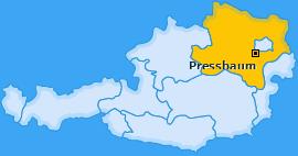 Karte von Pressbaum