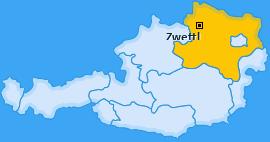 Bezirk Zwettl Landkarte