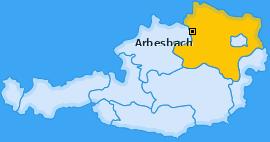 Karte von Arbesbach