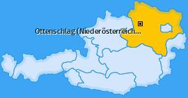 Karte von Ottenschlag (Niederösterreich)