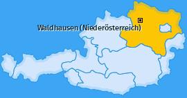Karte von Waldhausen (Niederösterreich)