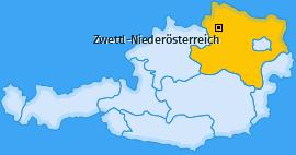 Karte Unterrabenthan Zwettl-Niederösterreich