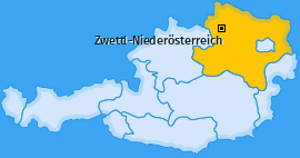 Karte Niederstrahlbach Zwettl-Niederösterreich