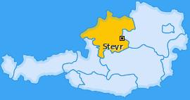 Karte von Steyr