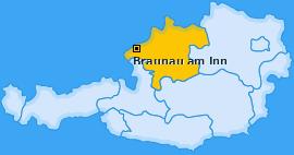 Bezirk Braunau am Inn Landkarte