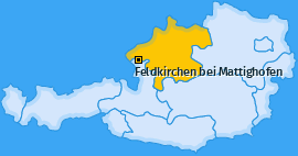Karte von Feldkirchen bei Mattighofen