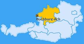 Karte von Hochburg-Ach