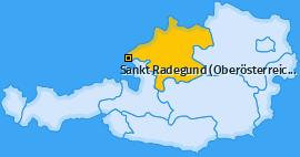 Karte von Sankt Radegund (Oberösterreich)