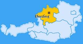 Bezirk Eferding Landkarte