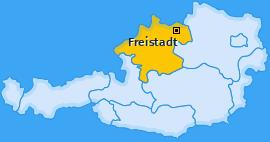 Bezirk Freistadt Landkarte