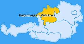 Karte von Hagenberg im Mühlkreis