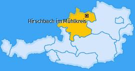 Karte von Hirschbach im Mühlkreis