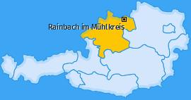 Karte von Rainbach im Mühlkreis