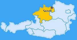Karte von Sandl