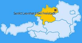 Karte von Sankt Leonhard bei Freistadt