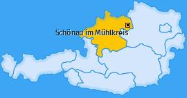 Karte von Schönau im Mühlkreis