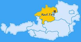 Karte von Bad Zell