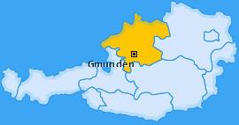 Bezirk Gmunden Landkarte