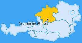 Karte von Grünau im Almtal