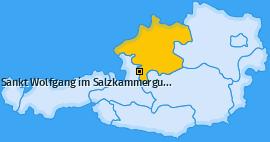 Karte von Sankt Wolfgang im Salzkammergut