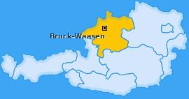 Karte von Bruck-Waasen